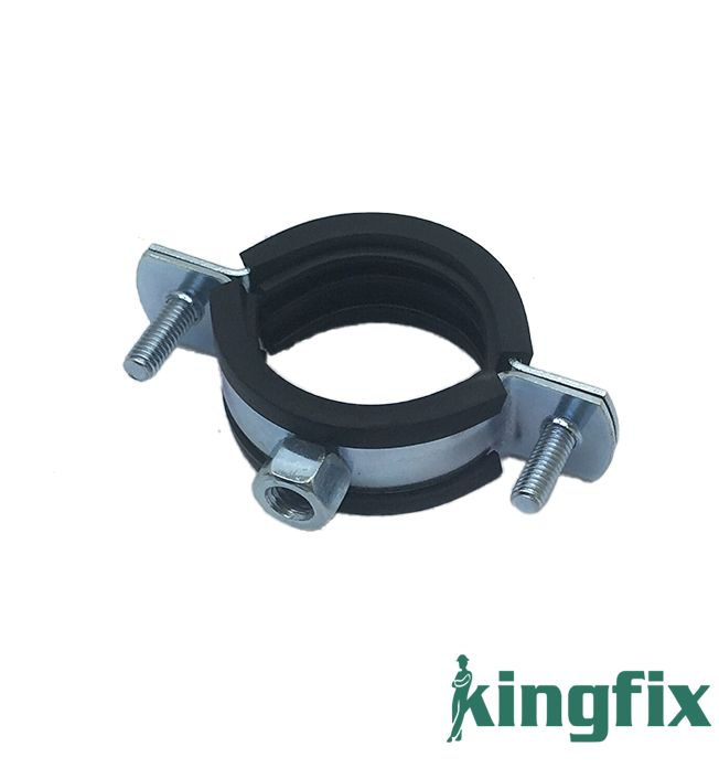 Pipe Clamp With M8 Nut & Rubber