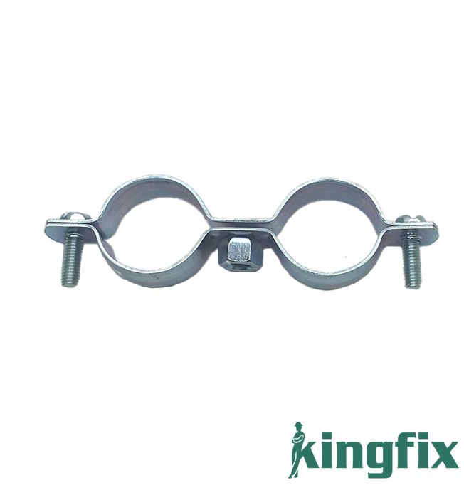 Twin Pipe Clamp Without Rubber