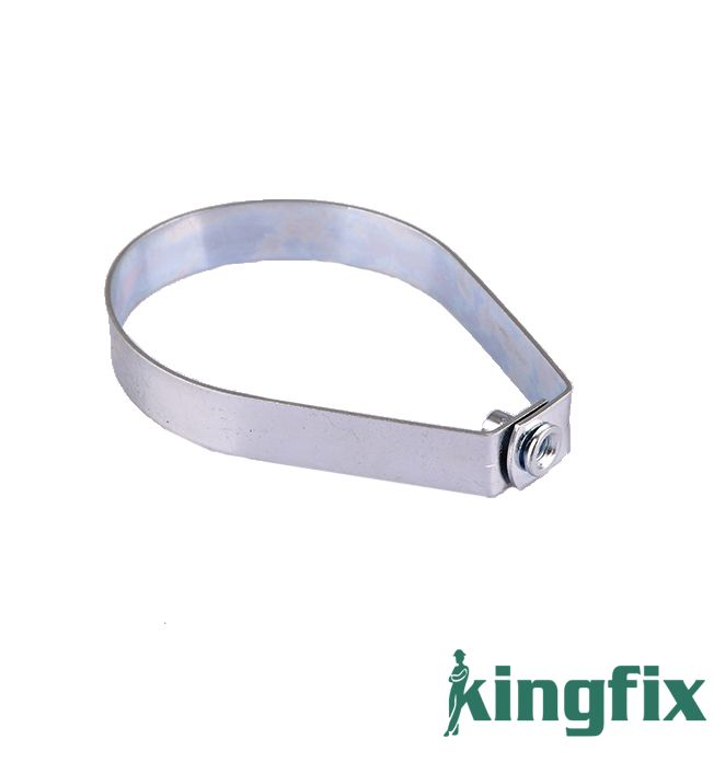 Sprinkler pipe clamp without rubber